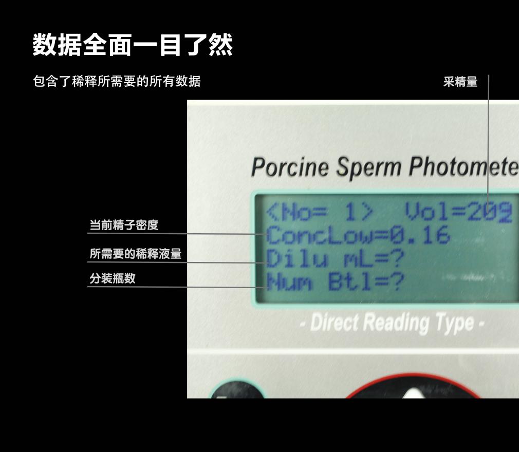 富士平精子密度仪 公猪舍 精液分析 第16张